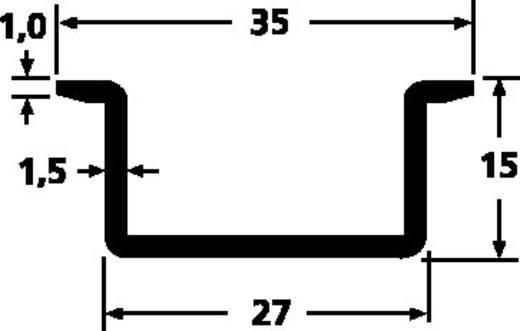 HellermannTyton DELTA-3A/BV DIN-rail Geperforeerd Plaatstaal 2000 mm 1 stuks