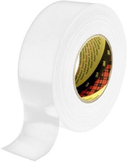 3M 389 Textieltape Wit (l x b) 50 m x 38 mm Gomharslijm Inhoud: 1 rollen