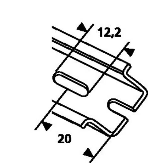 HellermannTyton DELTA2F-ST-GEL-WC DIN-rail Geperforeerd Plaatstaal 2000 mm 1 stuks