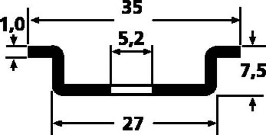 HellermannTyton DELTA3F-ST-GEL-WC DIN-rail Geperforeerd Plaatstaal 2000 mm 1 stuks