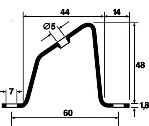 HellermannTyton HB5-ST-WC Beugelhouder 1 stuks