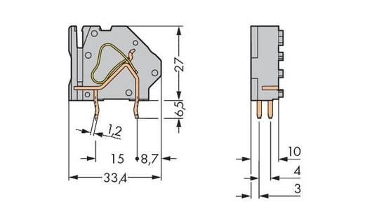Veerkachtklemblok 16.00 mm² Aantal polen 1 WAGO Lichtgrijs 100 stuks