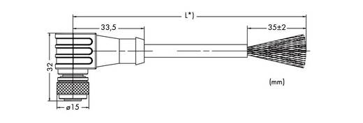 WAGO 756-1202/060-200 ETHERNET-/PROFINET-kabel, hoekig Inhoud: 1 stuks