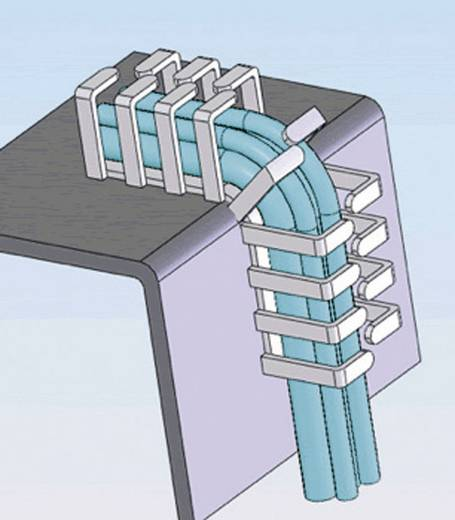Flexibel kabelkanaal (l x b x h) 500 x 20 x 20 mm Grijs Richco Inhoud: 1 stuks
