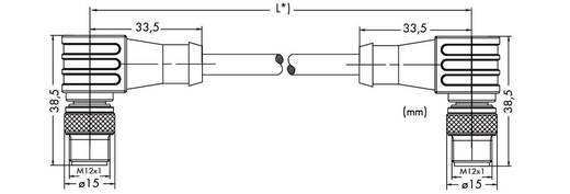 WAGO 756-1204/060-020 ETHERNET-/PROFINET-kabel, hoekig Inhoud: 1 stuks