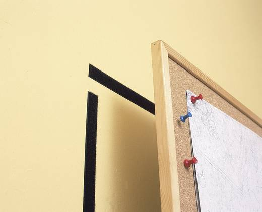 TESA On & Off Klittenband om vast te plakken Haak- en lusdeel (l x b) 1000 mm x 20 mm Zwart 1 stuks