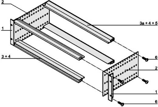 """Schroff europacPro 24563-131 19"""" modulesteunen 133.35 x 175 Plaatstaal 1 stuks"""