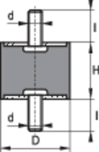 PB Fastener 110004 Draadbuffer Schroefdraad (buiten) M3 Hoogte 8 mm 1 stuks