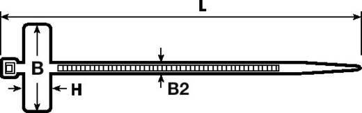 Kabelmarkering Markeringsvlak: 25 x 8 mm Naturel HellermannTyton IT18R-N66-NA-C0 111-81821 1 stuks
