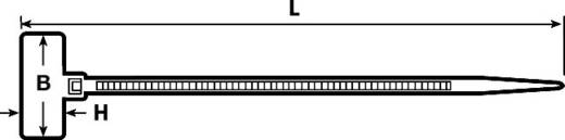 Kabelmarkering Markeringsvlak: 20.5 x 9 mm Naturel HellermannTyton IT18FL-PA66-NA-C1 111-81919 1 stuks