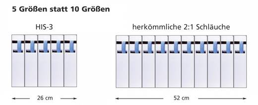 Krimpkous zonder lijm Zwart 6 mm Krimpverhouding: 3:1 HellermannTyton 308-30600 HIS-6/2-PEX-BK H&B