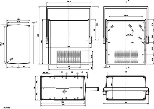 TEKO AUS 55.5 Tafelbehuizing 198 x 178 x 108 Polystereen (EPS), Aluminium Lichtgrijs 1 stuks