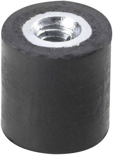 PB Fastener 100445 Draadbuffer Schroefdraad (binnen) M4 Hoogte 15 mm 1 stuks