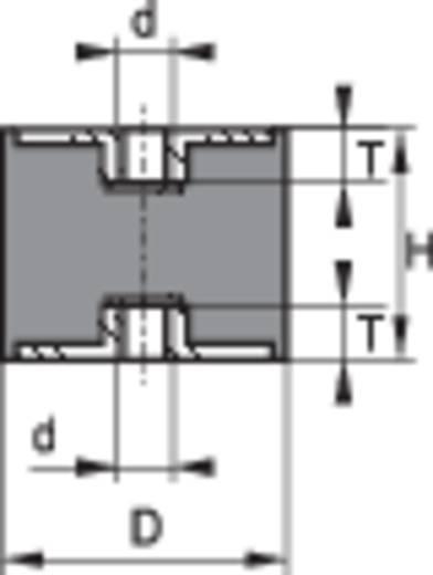 PB Fastener 111438 Draadbuffer Schroefdraad (binnen) M6 Hoogte 20 mm 1 stuks