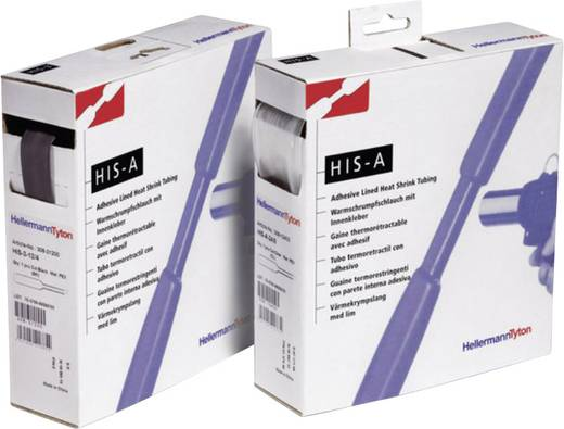 Krimpkous met lijm Zwart 24 mm Krimpverhouding:3:1 HellermannTyton 308-12400 HISA-24/8-PEX-BK H&B 3 m