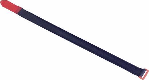 Fastech Klittenband met riem Haak- en lusdeel (l x b) 630 mm x 50 mm Zwart, Rood 2 stuks