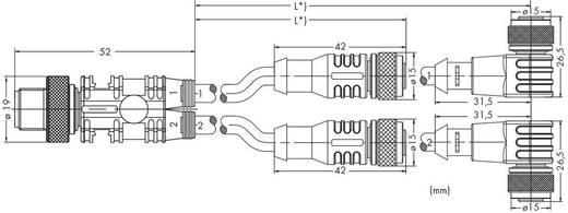 WAGO 756-5517/040-020 Sensor-/Actor splitterkabel Inhoud: 10 stuks