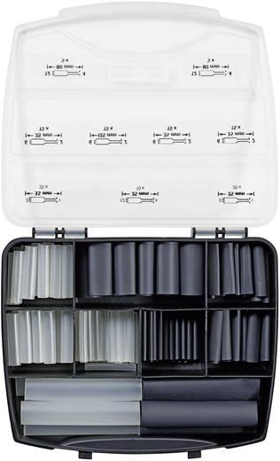 Krimpkous assortiment Zwart Krimpverhouding:3:1 HellermannTyton 380-03004 321-A BASIC 130 onderdelen