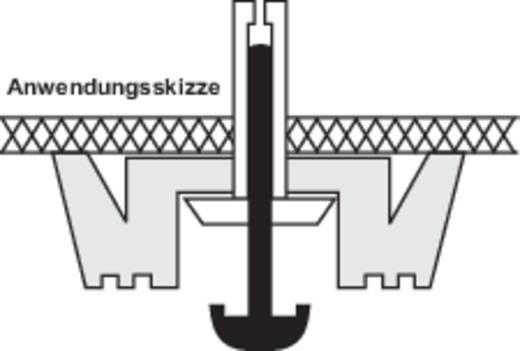 Apparaatvoeten Klikbevestiging, Rond Zwart (Ø x h) 24 mm x 10.5 mm 4 stuks