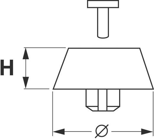 Apparaatvoeten Klikbevestiging, Rond Zwart (Ø x h) 15.8 mm x 4.5 mm 4 stuks