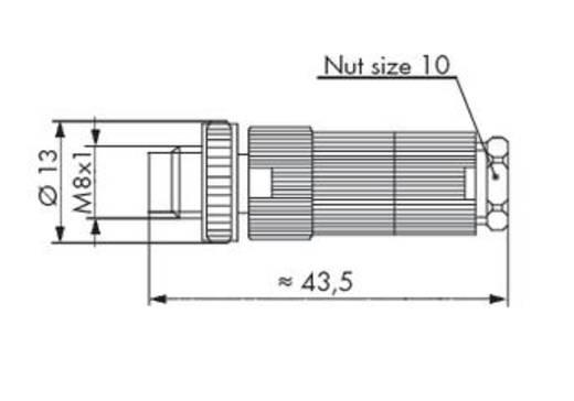 WAGO 756-9102/030-000 Connector voor sensor-/actuatorkabel Inhoud: 5 stuks