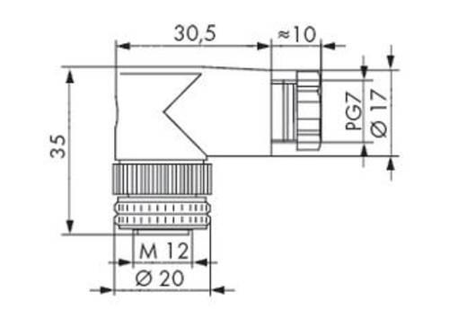 WAGO 756-9214/040-000 Connector voor sensor-/actuatorkabel Inhoud: 5 stuks
