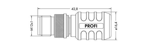 WAGO 756-9405/060-000 M12-afsluitstekker Inhoud: 1 stuks