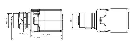 WAGO 756-9504/040-000 Adapter M12-bus Inhoud: 1 stuks
