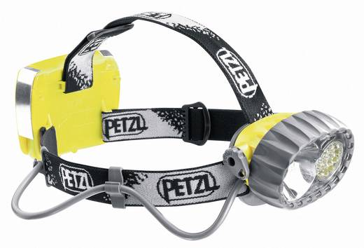 Petzl Duo LED 14 LED, Halogeen Hoofdlamp Geel-zwart Werkt op batterijen