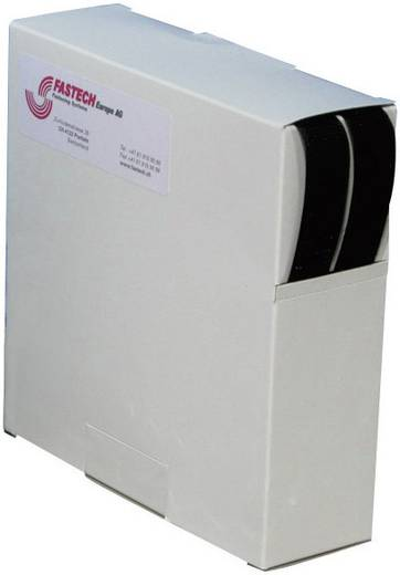 Fastech Klittenband om vast te plakken Haak- en lusdeel (l x b) 10000 mm x 20 mm Zwart 10 m