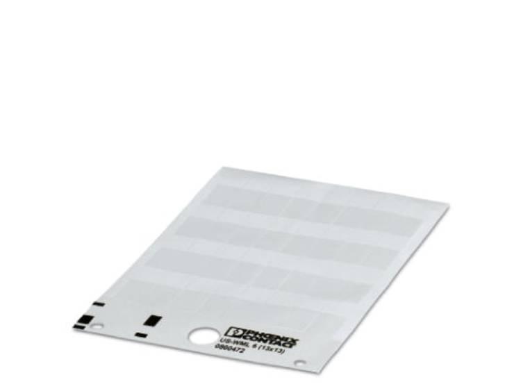 Kabelmarkering Montagemethode: Plakken Markeringsvlak: 25 x 25 mm Geschikt voor serie Enkele aders, Universeel gebruik Wit Phoenix Contact US-WML 36 (25X25)
