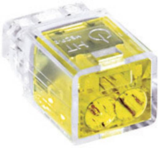 HellermannTyton HECP-2 148-90000 Verbindingsklem Flexibel: - Massief: 0.5-2.5 mm² Aantal polen: 2 1 stuks Geel