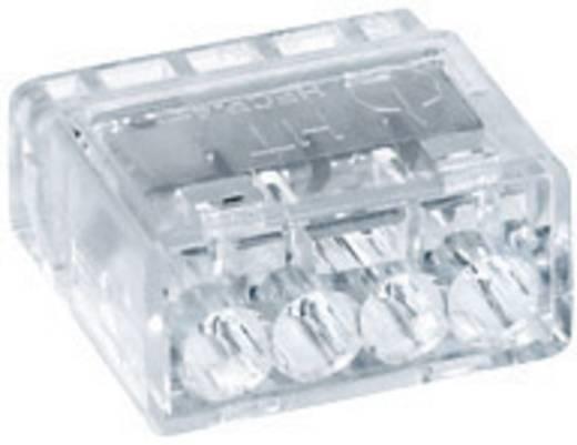 HellermannTyton HECP-4 148-90002 Verbindingsklem Flexibel: - Massief: 0.5-2.5 mm² Aantal polen: 4 1 stuks Transparant