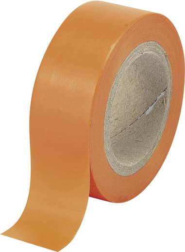 Conrad Components Isolatietape Oranje (l x b) 10 m x 19 mm Rubber Inhoud: 1 rollen