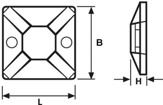 Bevestigingssokkel Zelfklevend, Schroefbaar halogeenvrij, UV-stabiel, weerbestendig Transparant HellermannTyton 151-283