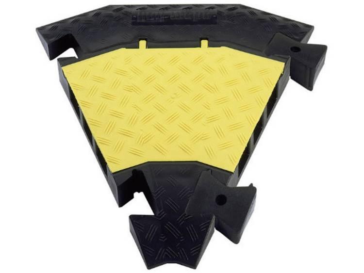 Adam Hall Verbindingsstuk 45° Polyurethaan Zwart-geel Aantal kanalen: 3 Inhoud: 1 stuks