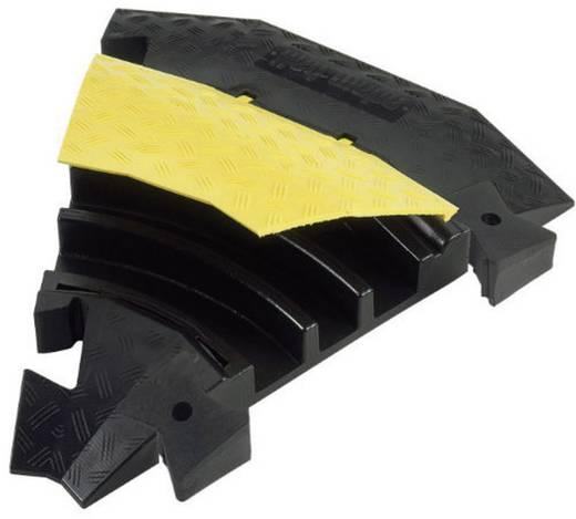 Verbindingsstuk 45° Polyurethaan Zwart-geel Aantal kanalen: 3 Adam Hall Inhoud: 1 stuks