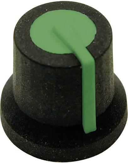 Cliff CL170828BR Draaiknop Zwart-groen (Ø x h) 16.8 mm x 14.5 mm 1 stuks