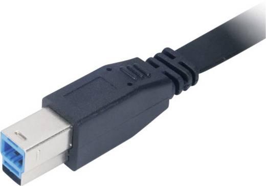Akasa USB 3.0 Aansluitkabel [1x USB 3.0 stekker A - 1x USB 3.0 stekker B] 2 m Zwart Zeer flexibel, Vergulde steekcontact