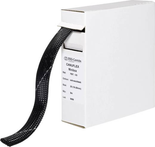 Gevlochten slang Canuflex Bundelbereik-Ø: 4 - 9 mm Minibox Canuflex PBT V0 DSG Canusa Inhoud: 10 m