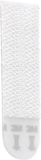 3M 17201 Klittenband om vast te plakken Haak- en lusdeel (l x b) 70 mm x 18 mm Wit 4 paar