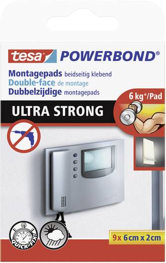 Tesa POWERBOND montagepads (l x b) 60 mm x 20 mm