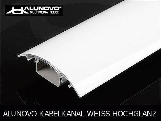 Alunovo HW90-025 Kabelgoot (l x b x h) 250 x 80 x 20 mm 1 stuks Wit (glanzend)