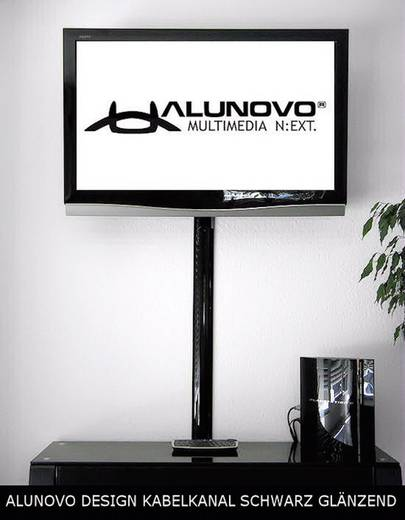 Alunovo SC90-025 Kabelgoot (l x b x h) 250 x 80 x 20 mm 1 stuks Zwart (glanzend)