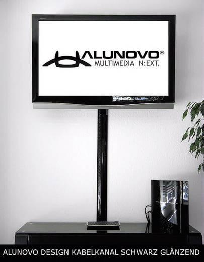 Alunovo SC90-100 Kabelgoot (l x b x h) 1000 x 80 x 20 mm 1 stuks Zwart (glanzend)
