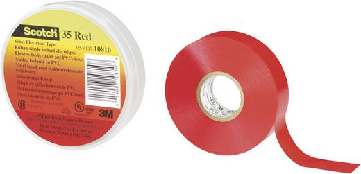 3M Scotch 35 Isolatietape Rood (l x b) 20 m x 19 mm Inhoud: 1 rollen