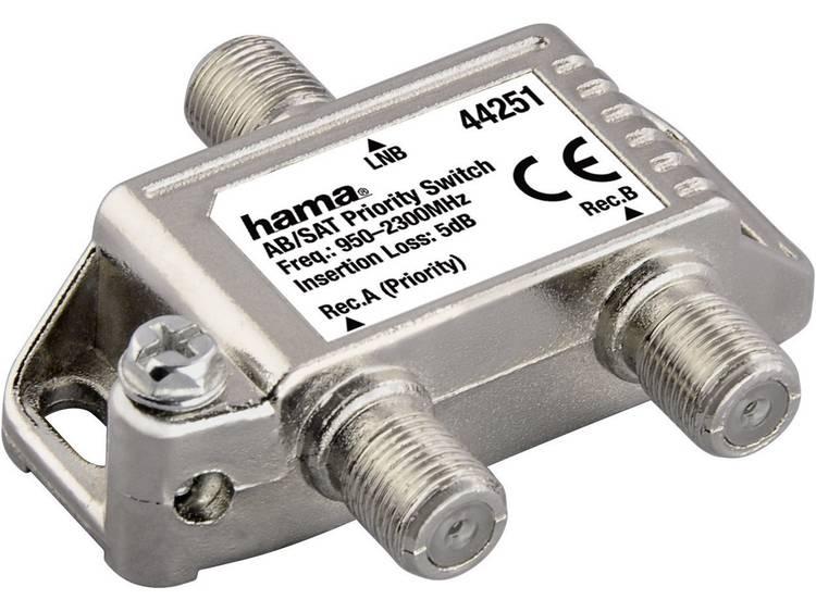Hama SAT-verdeler, AB/SAT-voorrangsschakelaar, uitgang F-koppeling 1x - ingang F-koppeling 2x