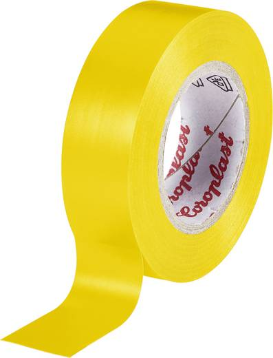 Coroplast Isolatietape Geel (l x b) 25 m x 15 mm Acryl Inhoud: 1 rollen