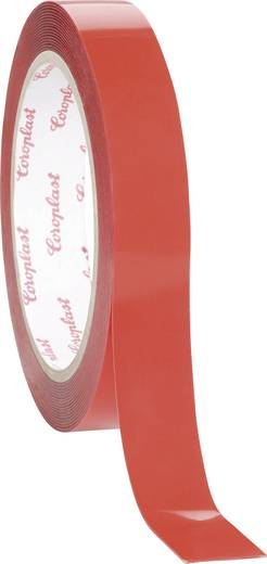 Coroplast Dubbelzijdige tape-set Wit (l x b) 1.5 m x 19 mm Acryl Inhoud: 1 set