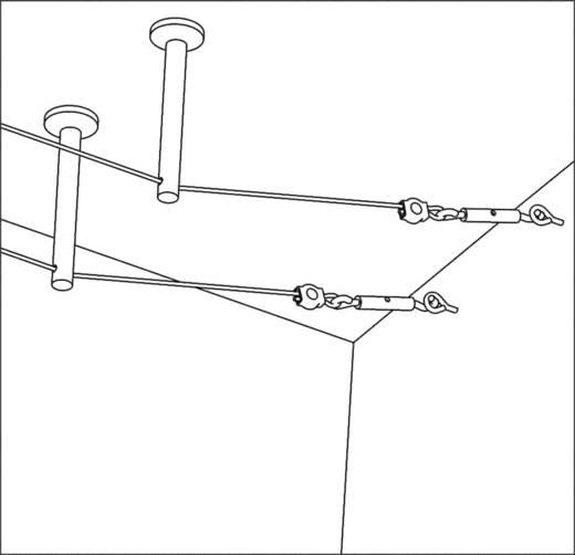 12V-kabelsysteemcomponenten Afbuiger Set van 2 Paulmann UMLENKER-DECKENBEFESTIGUNG, ZUM AUFSCHRA 17824 Chroom